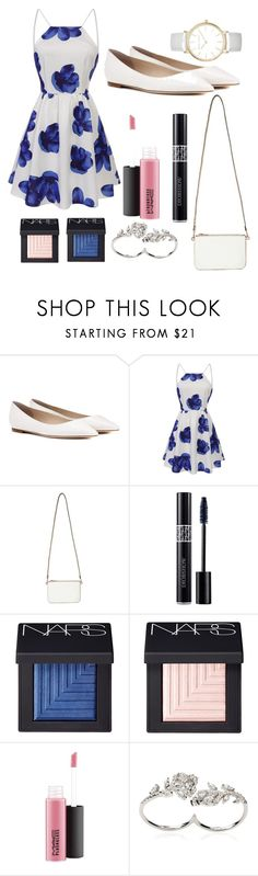 """Date #1 (At the park)"" by trin9213 ❤ liked on Polyvore featuring Jimmy Choo, Miss Selfridge, Christian Dior, NARS Cosmetics, MAC Cosmetics, Apples & Figs and Laura Ashley"