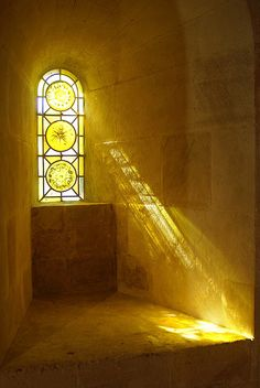 See the light  ~  Afternoon sun pours through the Stained-glass window in Arles, Provence-Alpes-Cote d'Azur, France
