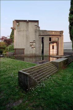 Carlo Scarpa.Tumba Brion. Complejo Monumental Cementerio de San Vito d'Altivole Treviso, 1969-78