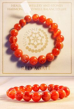 Vintage Red Agate Gemstone Bracelet, Agate Beads, Agate Gemstones, Handmade Agate Bracelet, Agate Jewelry, Gift Ideas, For Her