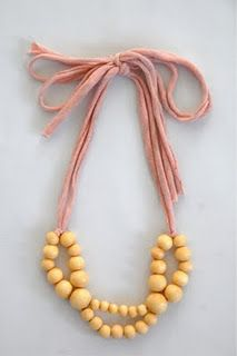 More fun with old tshirts and big beads.  Adorable!