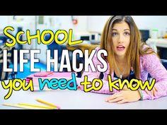 Back to school life hacks, back to school videos, middle school hacks Back To School Life Hacks, Back To School Videos, Middle School Hacks, High School, Erin Condren, Planners, Curriculum, Worksheets, Survival