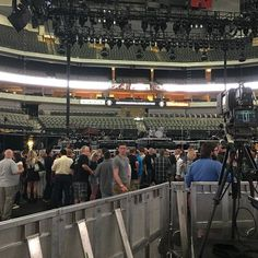 We made it to the rails. Our resident Bruce expert says we're in a great spot even if it's not the front pit. And we're here. #allthatmatters #therivertour #brucespringsteen #brucespringsteendallas2016