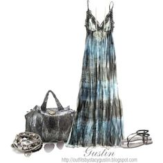 ong gray dress, on Polyvore