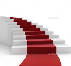 Stairs and Red Carpet vector Illustration. In ZIP ¨C archive: eps (10 version), AI (CS5), high resolution JPG
