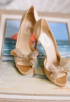 nantucket wedding bride's shoes