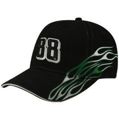 #88 Dale Earnhardt Jr. Black Flame Adjustable Hat by Football Fanatics. $22.00. Show your support for Dale Jr. with this fun Flame adjustable hat featuring his car number embroidered on the crown, embroidered team color flames from bill to back and his replica signature embroidered on the back!Quality embroiderySix panels with eyeletsStructured fitAdjustable hook and loop fastener strapImported100% Cotton