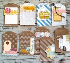 Mish Mash: Handmade Project Life Journaling Cards and envelopes