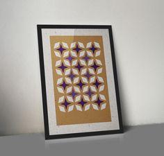 jwtwel, star pattern A3 poster. 2 color Risograph print; MetallicGold / Purple #Risograph #riso #print #poster #A3 #jwtwel #star #retro #pattern #patroon #paars #purple #goud #gold #christmas #december #lifestyle #home #decoration #kerst #newyear #onsalenow #muskatgrey #dekijm #jwtwel #frame #wall #graphic #design