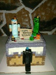 Another Minecraft cake for my other boy.
