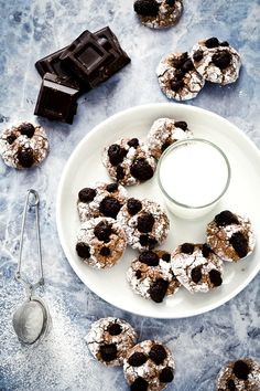 Chocolate soft cookies with dried fruit - Biscotti morbidi al cioccolato e frutta secca