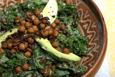 Crispy chickpea kale salad - Recipe by Jesse Schelew