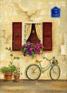 windows.quenalbertini: Nicola Rabbett 'Rue de Loire'