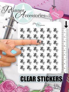Clear Hair Stickers Hair Cut Stickers von EmelysPlannerShop auf Etsy