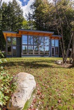 Our TimberCab's wall of windows serves views from three areas. Lake House Plans, Tiny House Plans, Tiny House Cabin, Cabin Homes, Metal Building Homes, Building A House, Small Modern Cabin, Hastings House, Small House Living