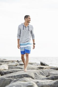 Equal parts athletic and laid-back, the men's slim fit hoodie is rendered here with a buttoned placket for added style points. It works equally well over a t-shirt to run errands or as a sporty counterpoint to a collared shirt. Slim Fit Hoodie, Summer Men, Men's Grooming, Slim Man, Collars, Latest Trends, Menswear, Sporty, Athletic