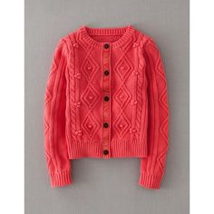 Boden Casual Cable Cardigan ($74) found on Polyvore