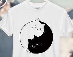 Yin Yang Cats Kittens T-SHIRT unisex top