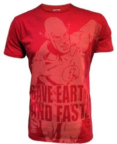 Flash Comic Superhero Save The Earth Junk Food Mens T-Shirt: Amazon.co.uk: Clothing