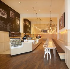 Phil and Sebastian cafe interior design. Cafe interior design by Mckinley Burkart.