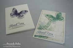 The Craft Spa - Stampin' Up! UK independent demonstrator : Stepped up CAS Watercolor Wings