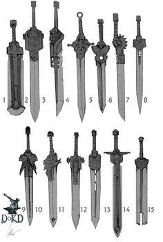 for the Black Blade Anime Weapons, Sci Fi Weapons, Weapon Concept Art, Fantasy Sword, Fantasy Weapons, Fantasy Art, Main Manga, Types Of Swords, Sword Design