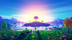 Island in Sunset Wallpaper, HD Artist Wallpapers, Images, Photos and Background Sunset Wallpaper, Full Hd Wallpaper, Level Design, Low Poly Games, Low Poly Models, Unreal Engine, High Quality Wallpapers, 3d Artist, Environment Design