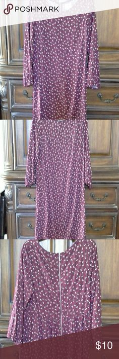 price drop ¤¤  Old navy dress 3/4 sleeves, back zipper, in excellent condition Old Navy Dresses Midi