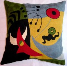Contemporary Throw Pillows – Miro Pajaros Pillow