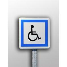 89€-HTPanneau parking Picto handicapé à couvre chant
