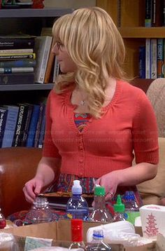 Bernadette's multicolored paisley dress on The Big Bang Theory