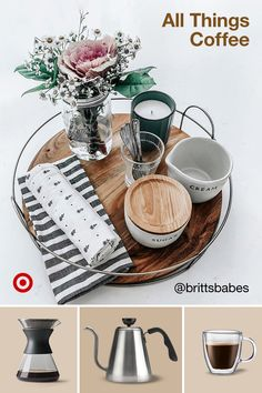 Love coffee? Think outside the cup! Find coffee bar-inspired decor, beauty & outfits in browns & warm tones.