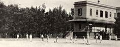Minha Vida Pública: Da placidez da infância aos embates no Colégio e na Faculdade. Pátio do Colégio São Luís  em 1929. Ao fundo o bambuzal