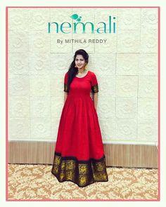 Reuse old saree Saree Gown, Sari Dress, Anarkali Dress, Indian Anarkali, Indian Attire, Indian Outfits, Long Gown Dress, Dress Up, Long Gowns