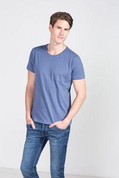 Cortefiel Basic t-shirt Blue