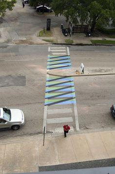 Latin American Street Art - cross walk art