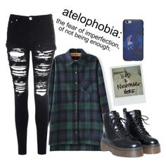 """""""Atelophobia"""" by marvelteen ❤ liked on Polyvore featuring Glamorous and Polaroid"""