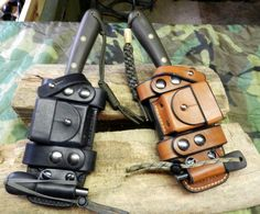 Custom Sheath for the PLSK1 contact Adam Cantrell of Voyager Leatherworks for purchase info.