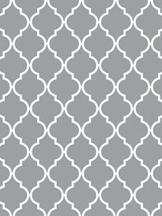 Pretty gray and white Quatrefoil pattern idea for the back of wedding invitations or envelope liners. Another way to add this pattern into your wedding is neckties for the groom and groomsmen.