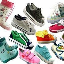 collection of kids footwear