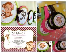 Girl monkey party package