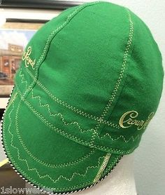 Apple Green Crown Royal FR Welding Caps Made in U.S.A. Any Size, IBEW, UA Welder