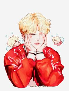 My husband Jimin Jimin Fanart, Kpop Fanart, Bts Jimin, Bts Kawaii, V Chibi, Bts Anime, Kpop Drawings, Fan Art, Bts And Exo