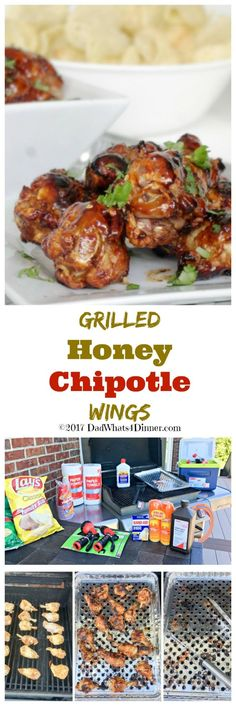 It is time to get your home ready for summer and keep the grill fired up by making these Grilled Honey Chipotle Wings. Sweet with a little heat! #ad @familydollar  #Barbeque #BBQ #Grilling #Food #Summer #delicious www.dadwhats4dinner.com via @dadwhats4dinner