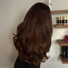 Black Coffee Hair With Ombre Highlights - 10 Cool Ideas of Coffee Brown Hair Color - The Trending Hairstyle Curly Hair Styles, Natural Hair Styles, Bronde Hair, Balayage Hair, Brown Hair With Blonde Highlights, Fall Highlights, Chocolate Brown Hair, Aesthetic Hair, Brown Hair Colors