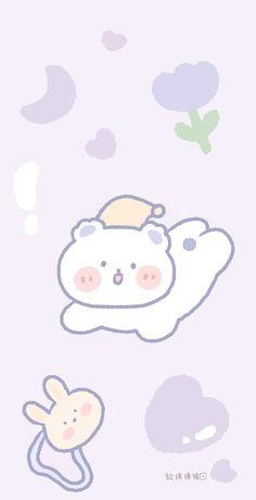 Cute Pastel Wallpaper, Soft Wallpaper, Graphic Wallpaper, Cute Patterns Wallpaper, Bear Wallpaper, Cute Anime Wallpaper, My Melody Wallpaper, Cute Wallpaper Backgrounds, Cute Cartoon Wallpapers