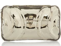 Make a statement with Anndra Neen's Alpaca Mirrored Metal Clutch
