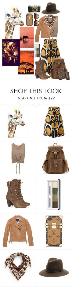 """Animal Safari"" by allyssister ❤ liked on Polyvore featuring Leftbank Art, Giles, Alice + Olivia, Chloé, Clinique, Marc New York, Louis Vuitton, Echo, rag & bone and Dolce&Gabbana"