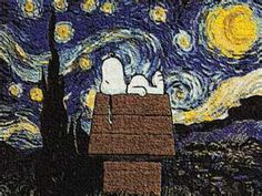 Snoopy's Starry Night...combining my love of Snoopy and all things French!