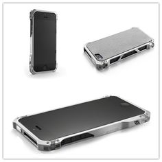 The Sector 5 iPhone 5 Case super thin multi-link perimeter frame design is comprised of 8 individual links to create a modular design that allows endless customization or upgrade possibilities. Each of the 8 links are CNC machined from 6061 aluminum billet as well as a proprietary aerospace polymer which maximizes signal strength.  The finish on the Sector 5 is your choice of Gun Metal, Silver, or Black with our proprietary Flux finish that is satin smooth to the touch..